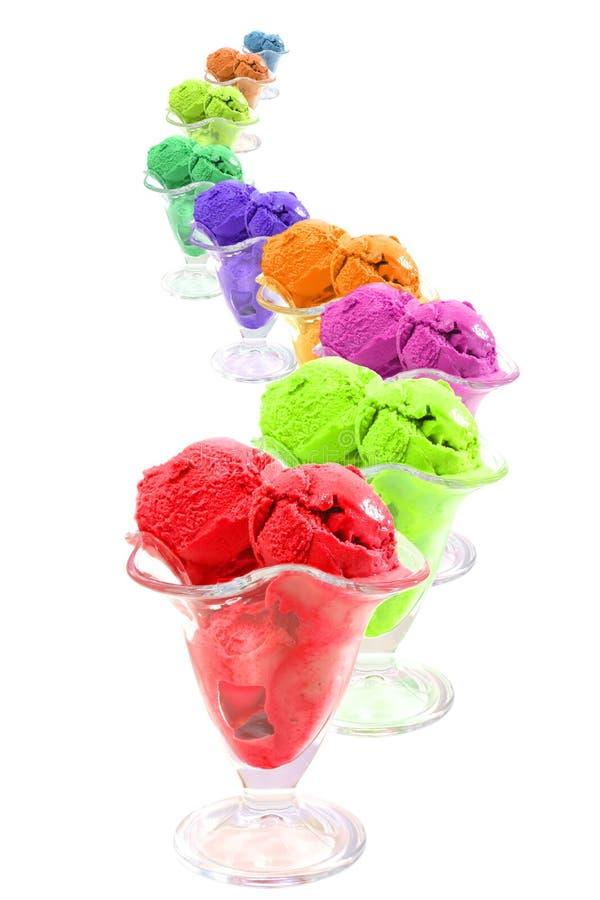 Serpente dei coni di gelato di colore fotografie stock libere da diritti