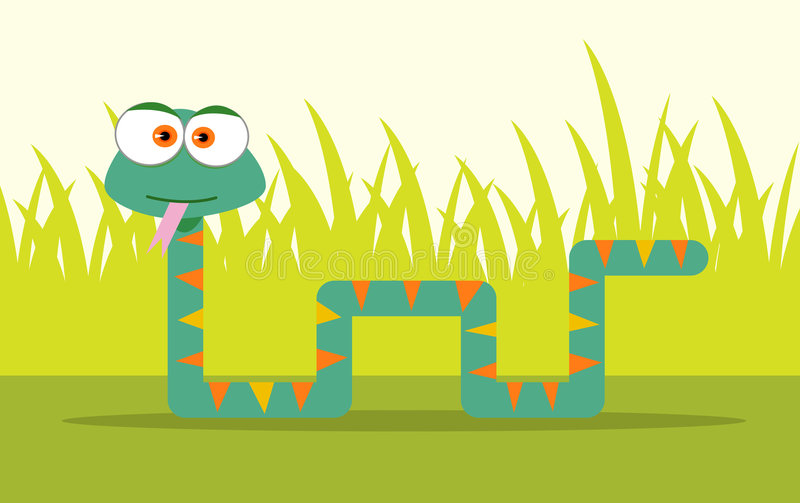 Serpente del fumetto illustrazione vettoriale