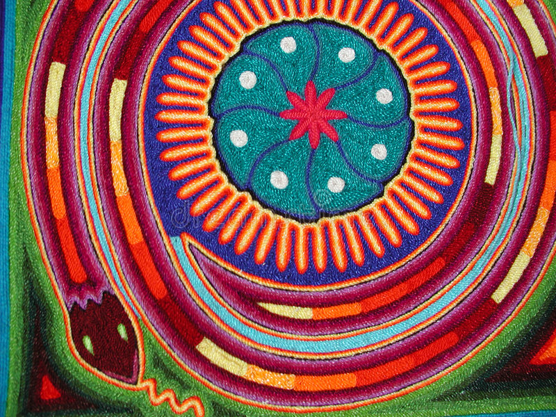 Serpente di Huichol fotografie stock
