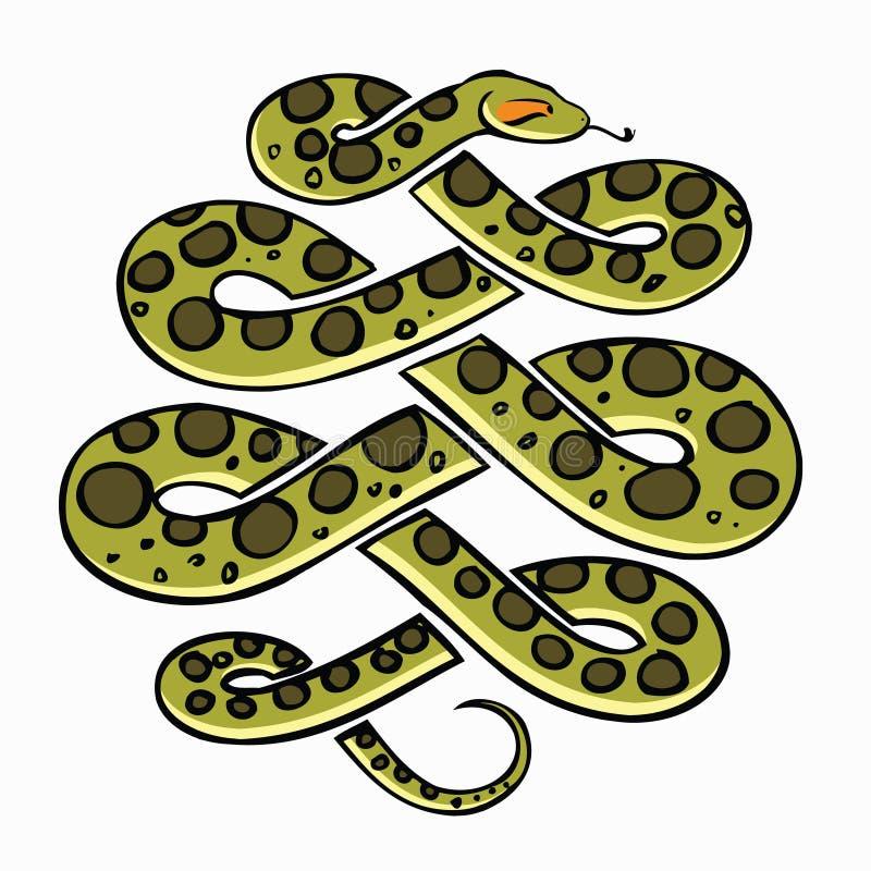 Serpente do Anaconda ilustração stock