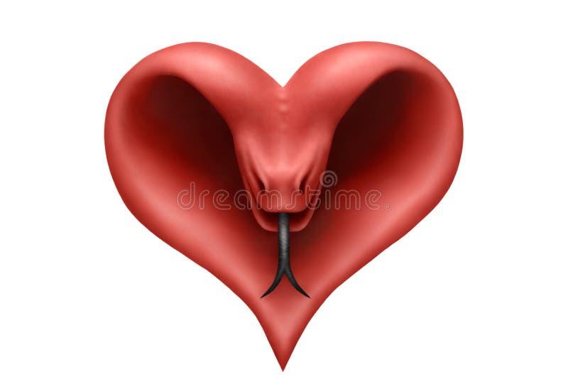 Serpente do coração ilustração do vetor