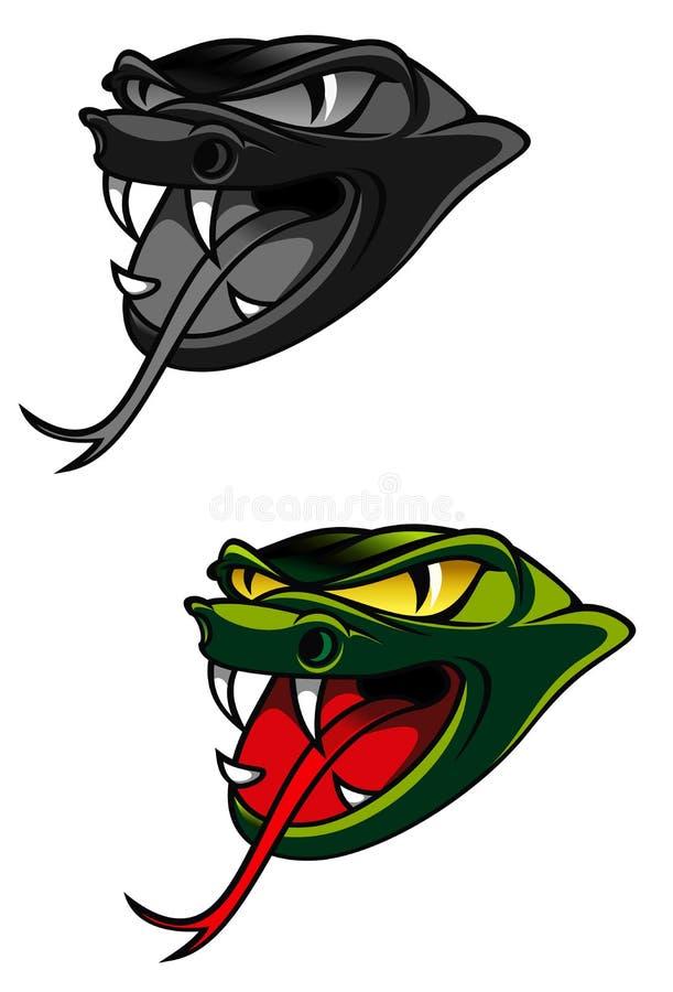 Serpente do perigo ilustração royalty free