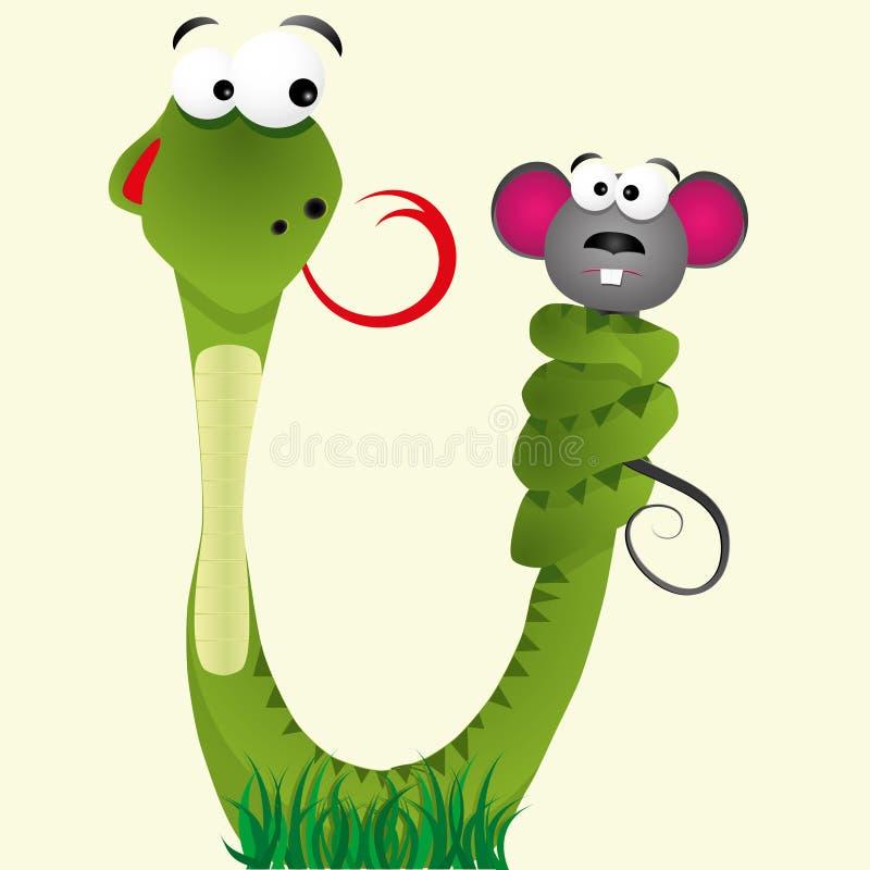 Serpente e boca ilustração royalty free