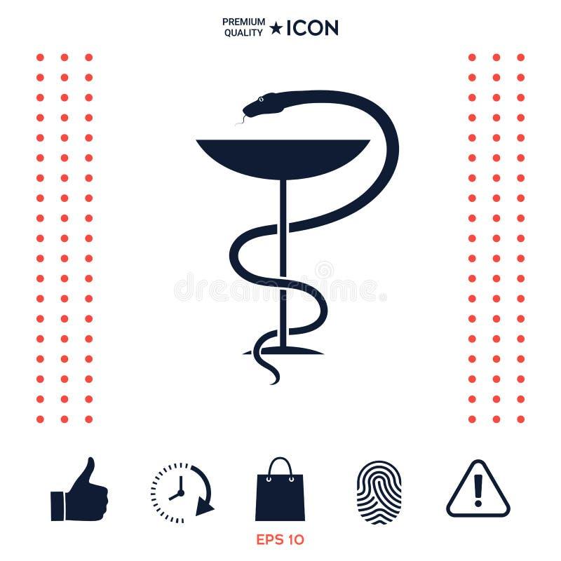 Download Serpente E Tazza Medici Di Simbolo Della Farmacia Illustrazione Vettoriale - Illustrazione di tazza, biologia: 117976331