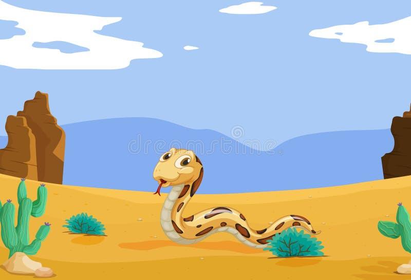 Serpente no deserto ilustração royalty free