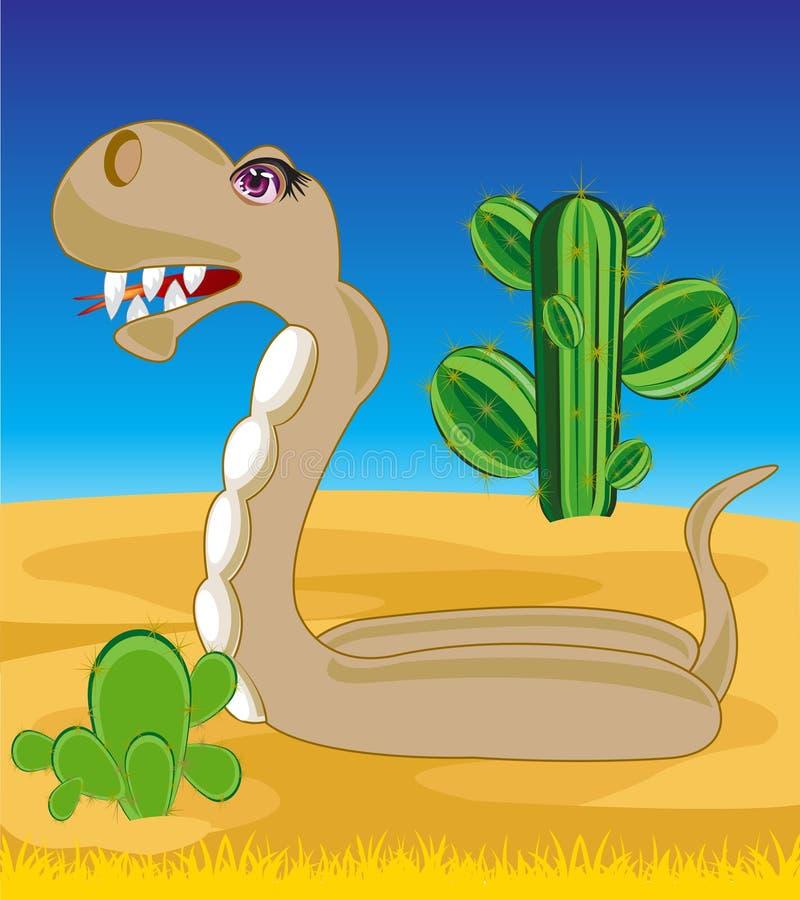Serpente no deserto ilustração stock