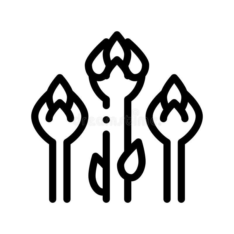 Serpente vegetal Bean Vetora Sign Icon do alimento saudável ilustração do vetor