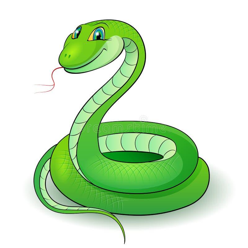 Serpente verde ilustração do vetor