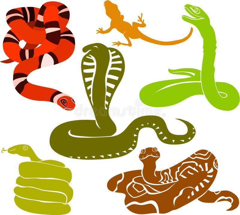 Serpentes ilustração do vetor