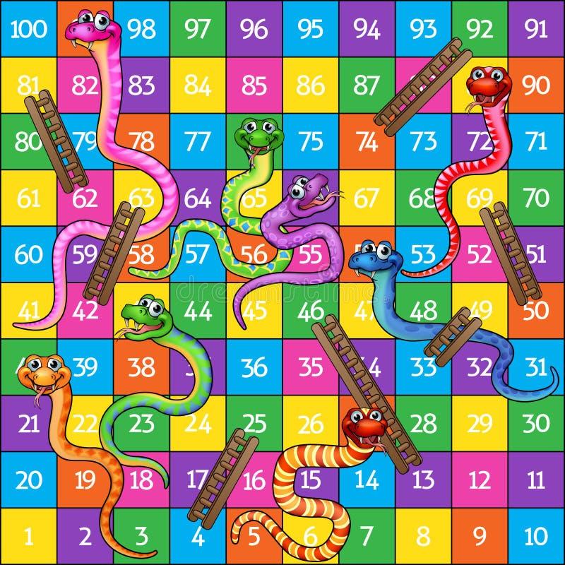 Serpentes e escadas ilustração stock