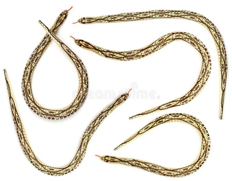 Serpenti di legno del giocattolo fotografie stock libere da diritti