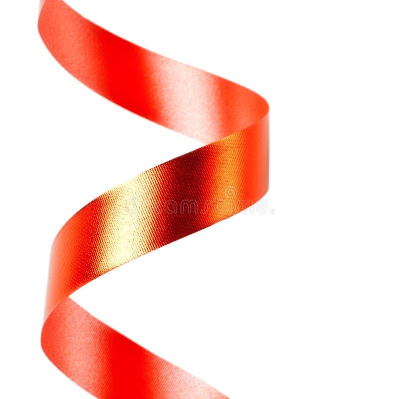 Serpentina roja de la cinta fotografía de archivo