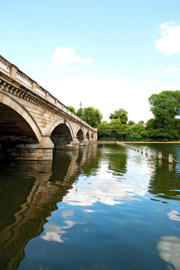 Serpentine Bridge In Hyde Park Royalty Free Stock Photography