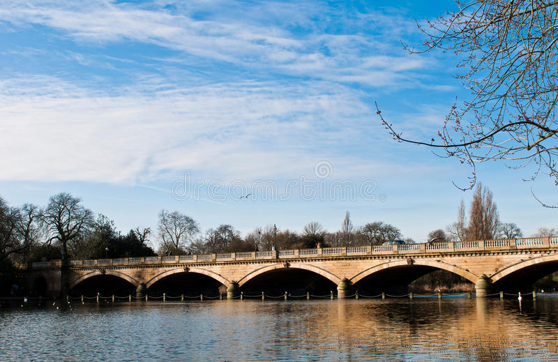 Download Serpentine Bridge and Lake stock image. Image of columns - 31369089