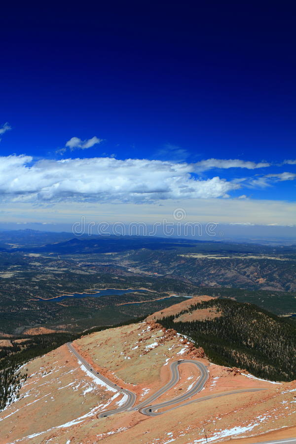 Download Serpentine road stock image. Image of blue, mountain - 21250867