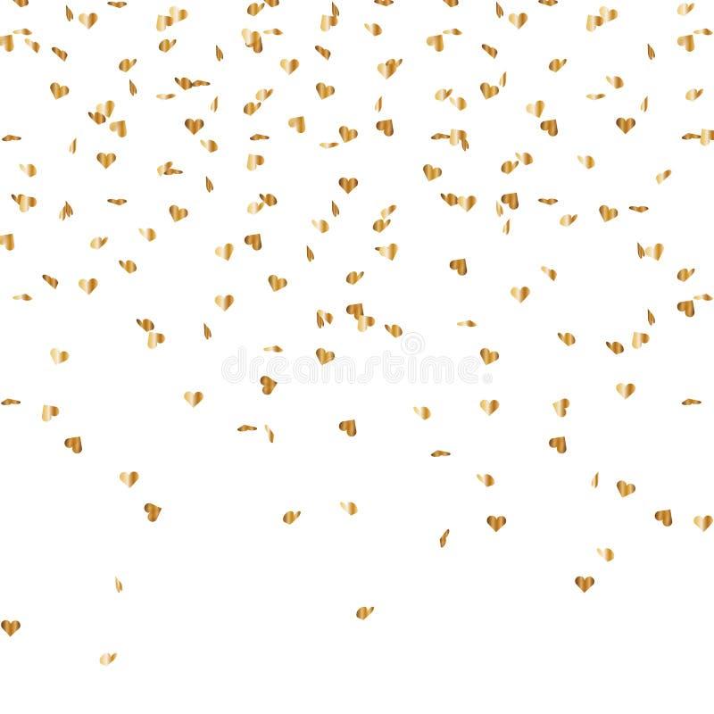 Serpentinenkonfettiherzmischung lizenzfreie abbildung