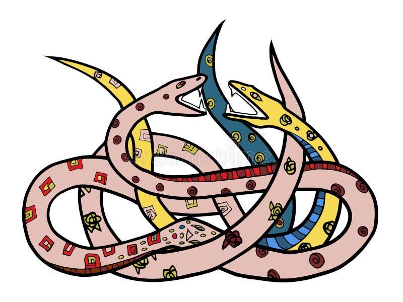serpents illustration de vecteur