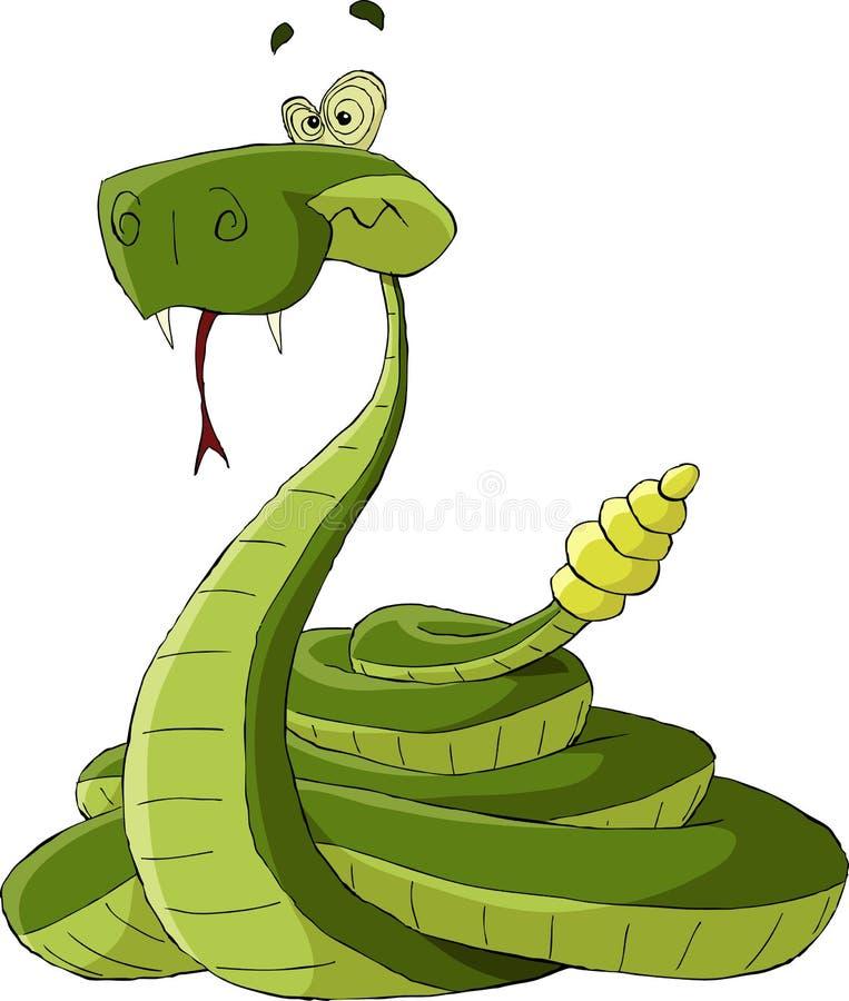Serpiente de cascabel ilustración del vector