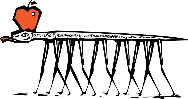 Serpiente de Eden ilustración del vector