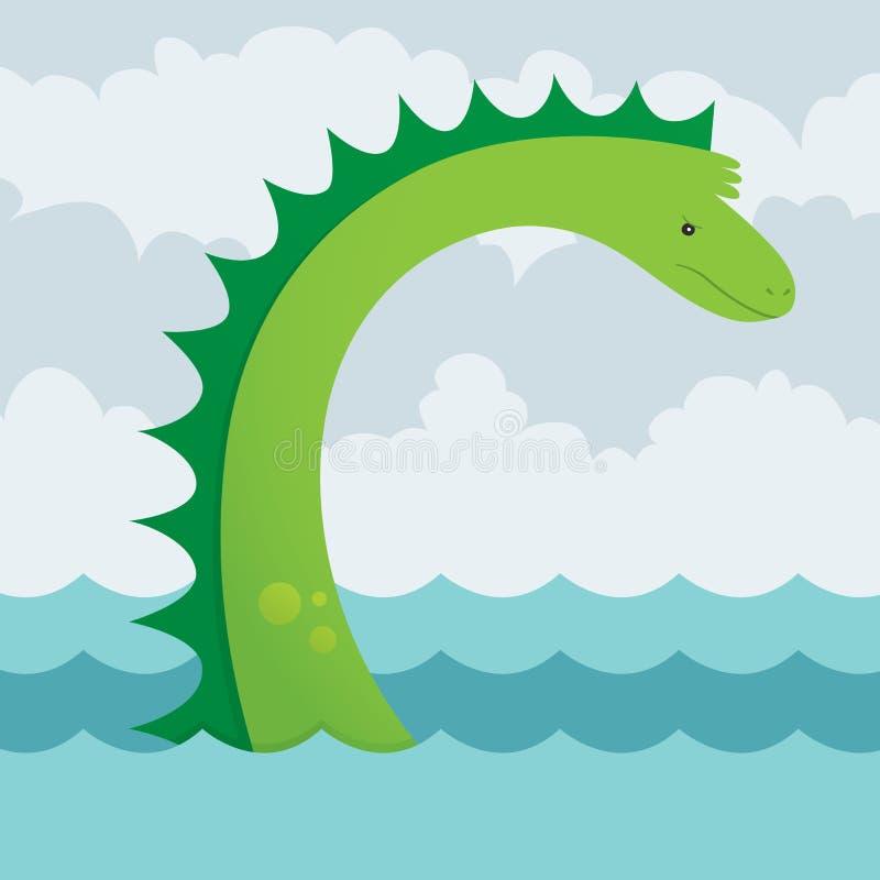Serpiente de mar stock de ilustración