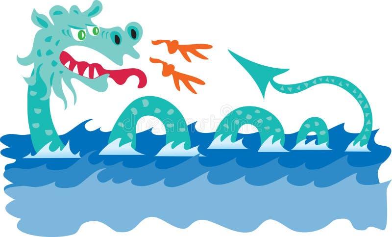 Serpiente de mar ilustración del vector