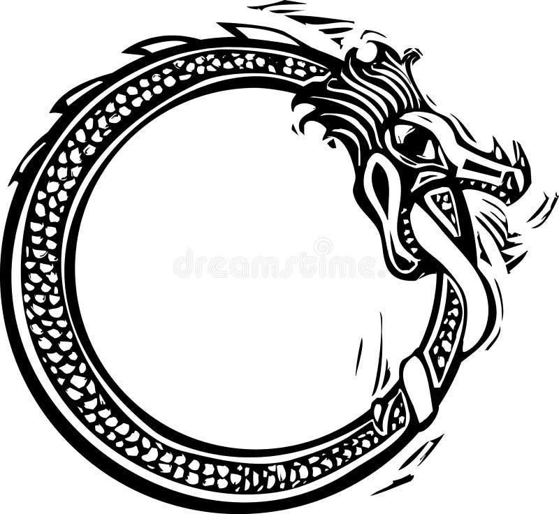 Serpiente de Midgard ilustración del vector