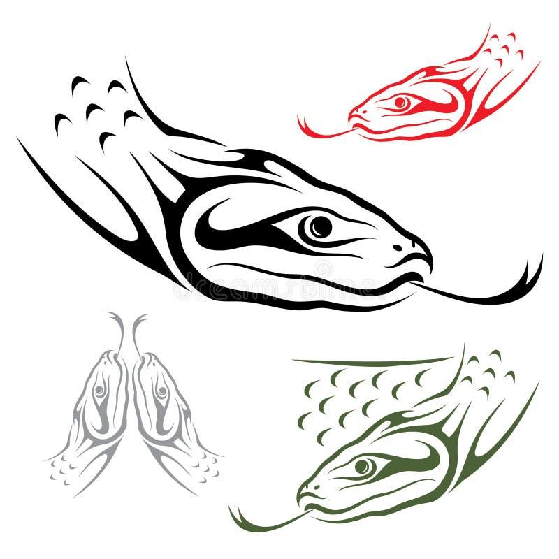 Serpiente del Anaconda stock de ilustración