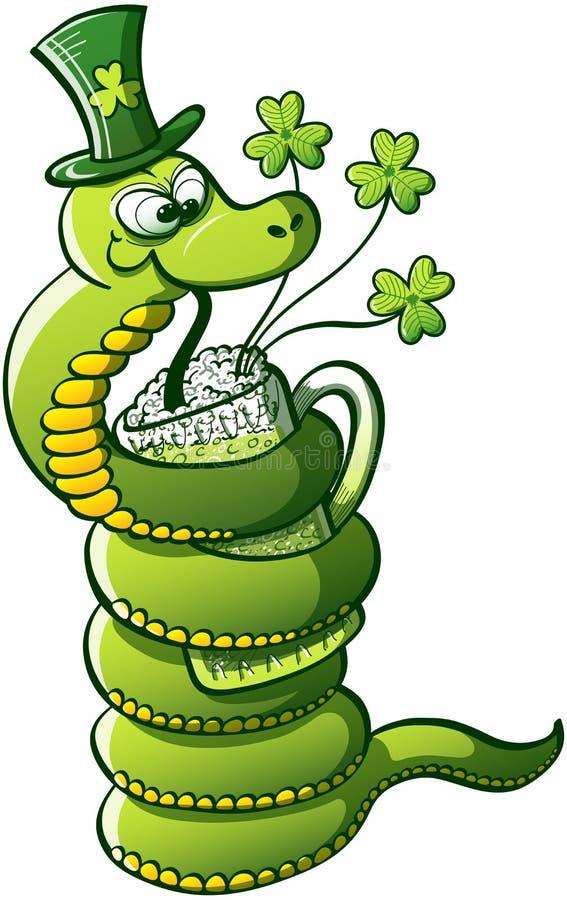 Serpiente del día de Patricks del santo ilustración del vector