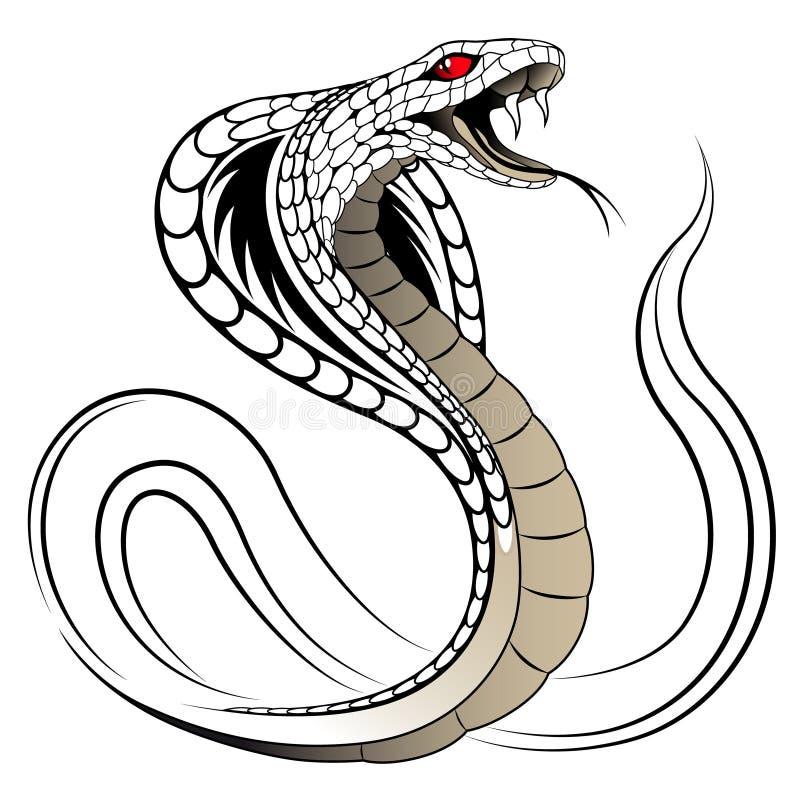 Serpiente del vector, cobra ilustración del vector