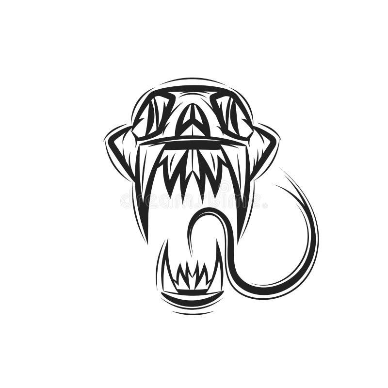 Serpiente del vector de la cobra del cráneo libre illustration