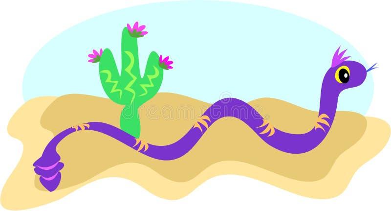 Serpiente en la arena ilustración del vector
