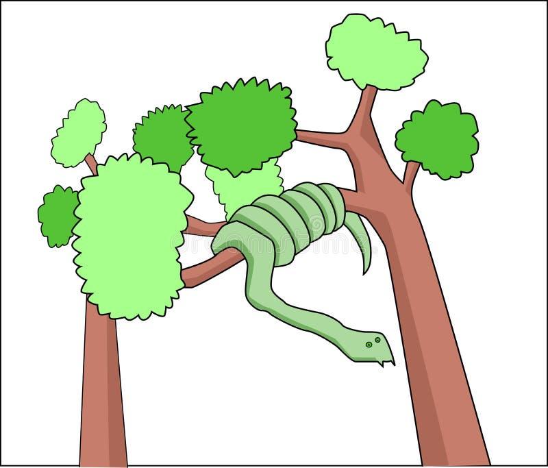 Serpiente en un árbol fotos de archivo