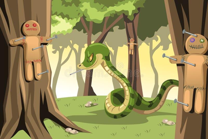 Serpiente enojada stock de ilustración