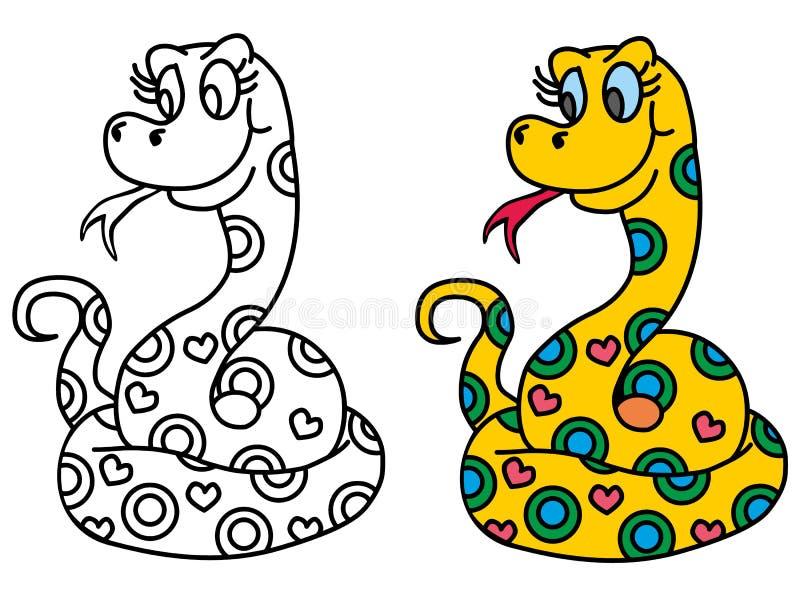 Serpiente linda ilustración del vector