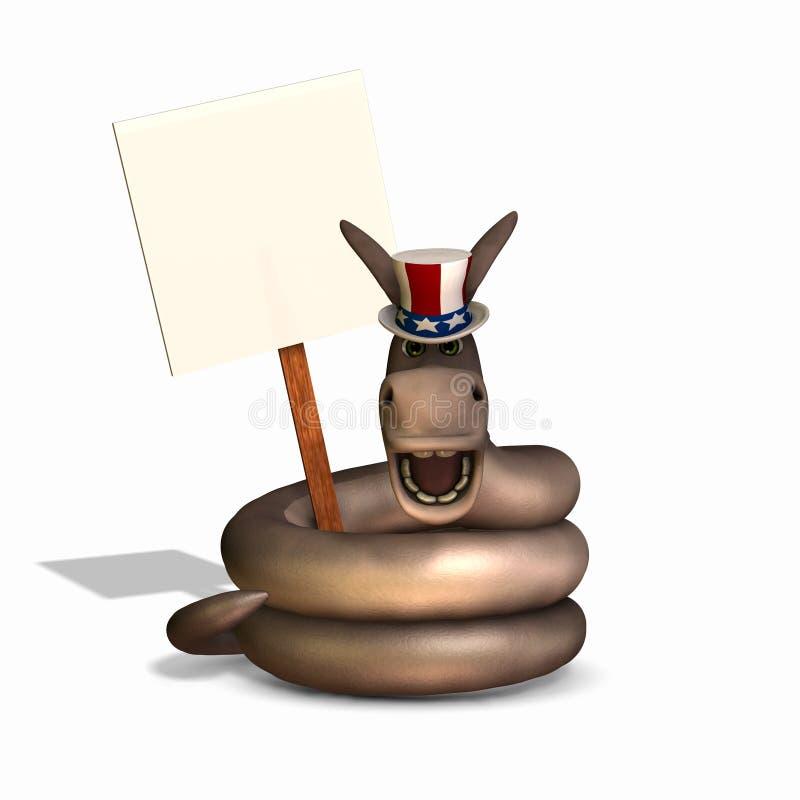 Serpiente política - Democrat stock de ilustración