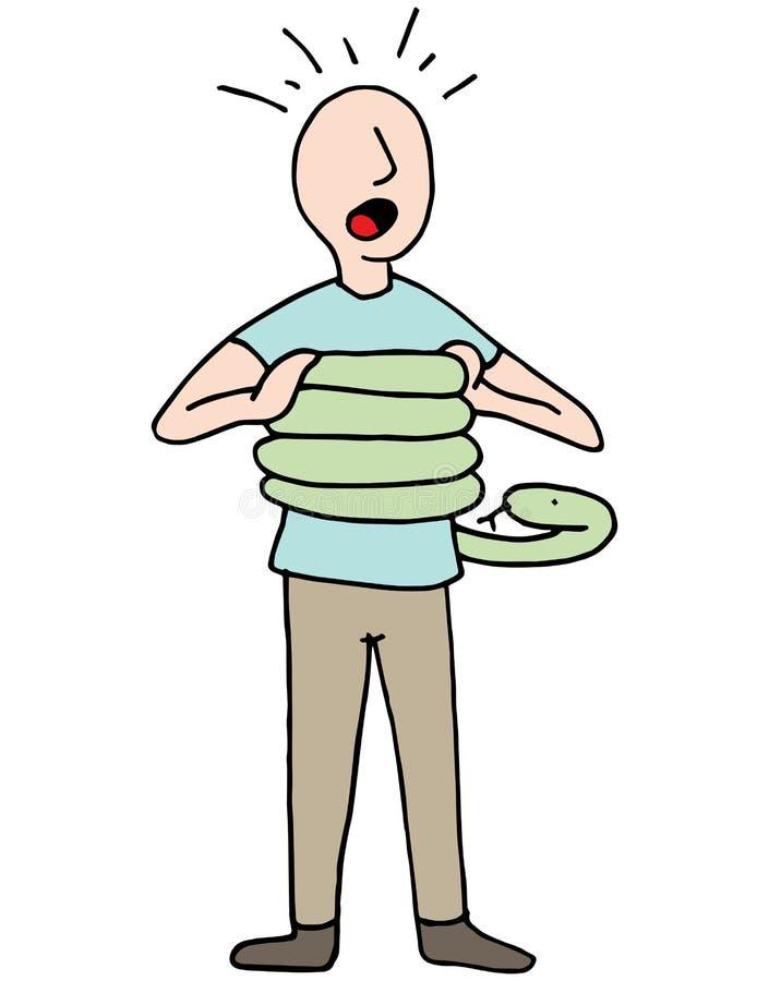 Serpiente que exprime asma del hombre libre illustration