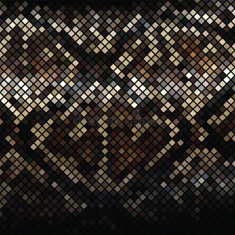 Serpiente Skin_2 del mosaico ilustración del vector