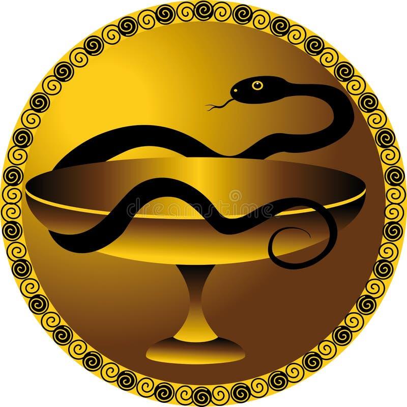 Serpiente - un símbolo del médico stock de ilustración