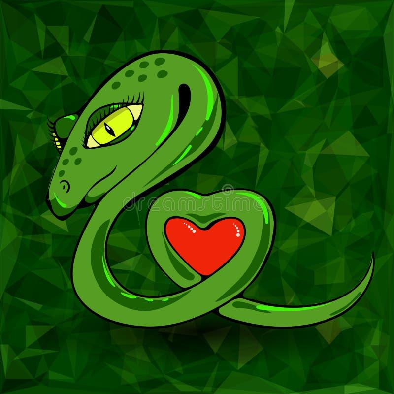 Serpiente y corazón libre illustration