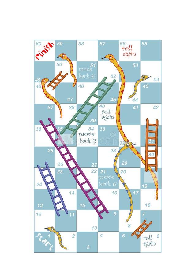 Serpientes y escaleras stock de ilustración