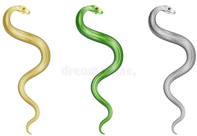 Serpientes fijadas libre illustration
