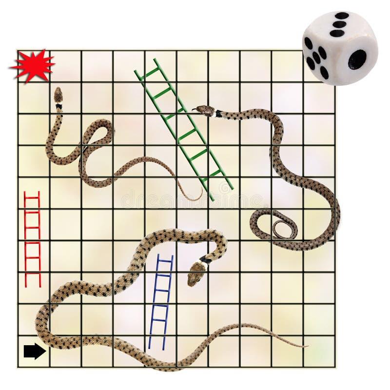Serpientes y escaleras, concepto del negocio del riesgo fotos de archivo
