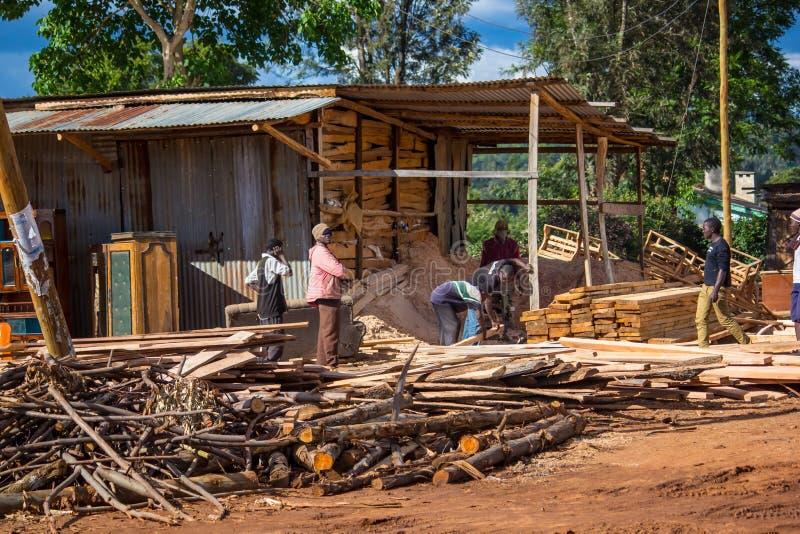 Serração da madeira fotografia de stock royalty free