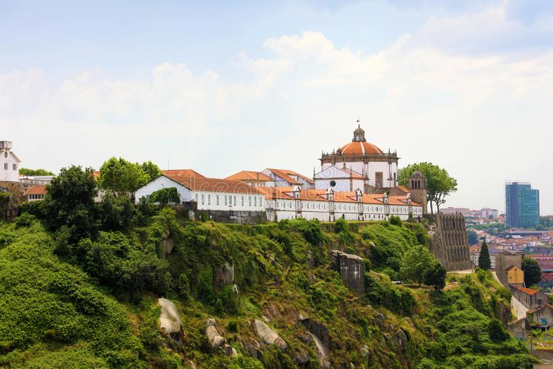 Serra修道院做毛发, Villa Nova de盖亚,波尔图,葡萄牙 免版税库存图片
