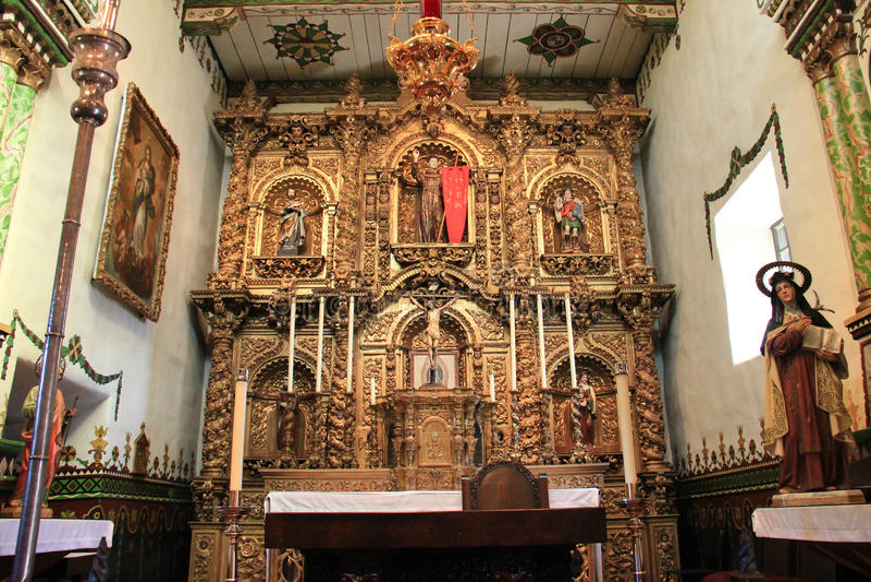 Serra Chapel alla missione San Juan Capistrano fotografia stock