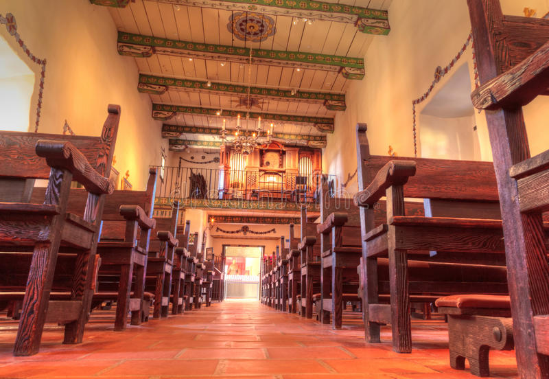 Serra Chapel at the Mission San Juan Capistrano stock image