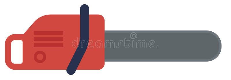Serra de cadeia vermelha ilustração stock