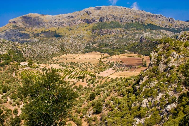 Serra De Tramuntana - góry pasmo na Mallorca, Balearic wyspy, Hiszpania fotografia stock
