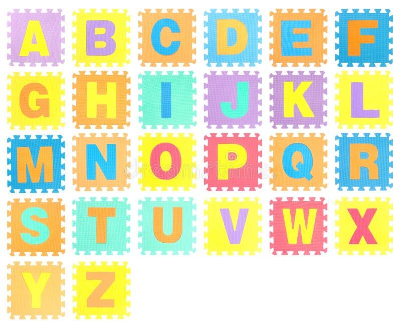 Serra de vaivém ajustada com alfabeto fotografia de stock