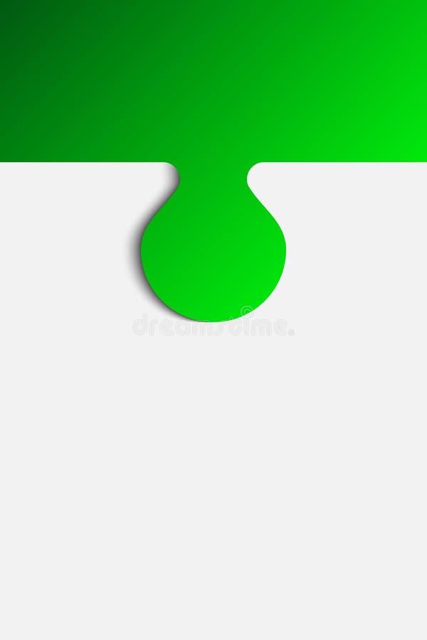 Serra de vaivém do vetor da placa da bandeira do fundo do enigma da parte ilustração do vetor